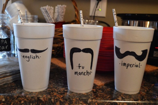 Mustache Cups
